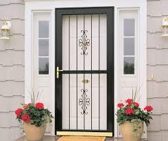 Crawford Door Lansing residential steel security door.