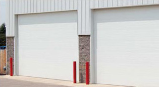 Crawford Door Lansing commercial warehouse garage doors.