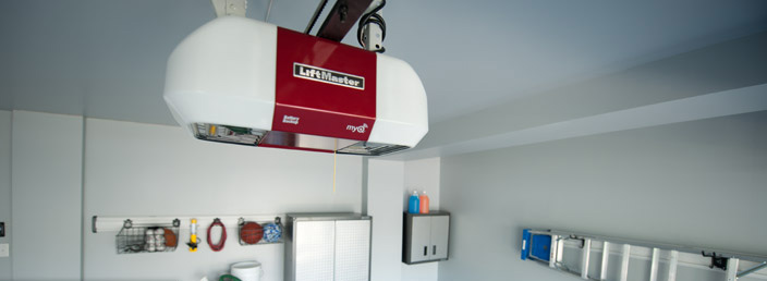 Crawford Door Lansing residential LiftMaster MyQ garage door opener.