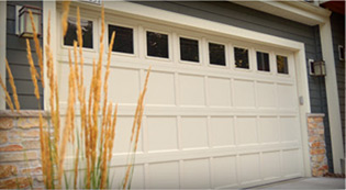Crawford Door Lansing residential garage door.
