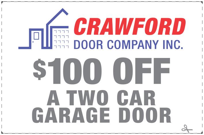 Crawford Door Lansing $100 off coupon.