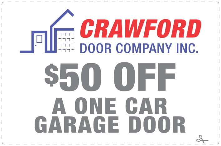 Crawford Door Lansing $50 off coupon.