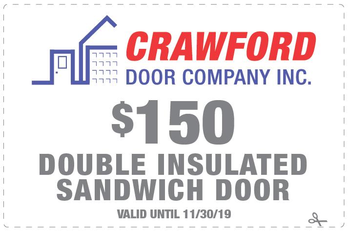 110419 Crawford Door Coupon 150 Double Insulated Sandwich Door