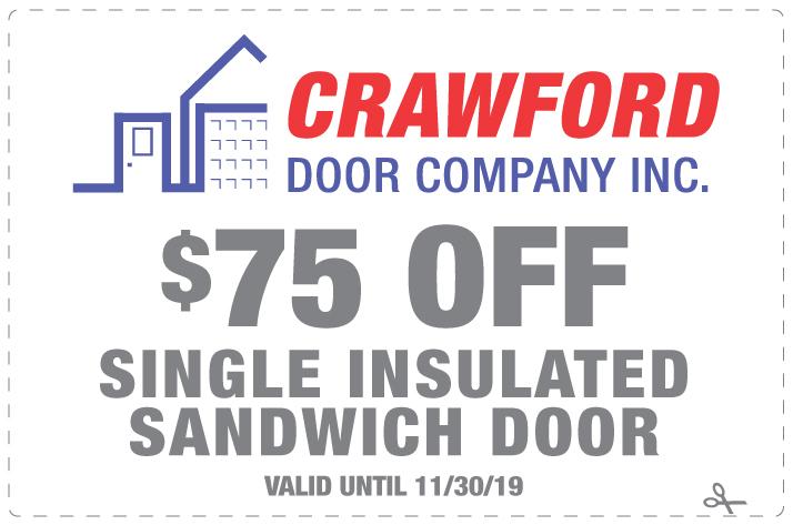 110419 Crawford Door Coupon 75 Off Single Insulated Sandwich Door
